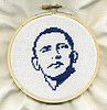 OBAMA cross-stitch portrait on Flickr.com