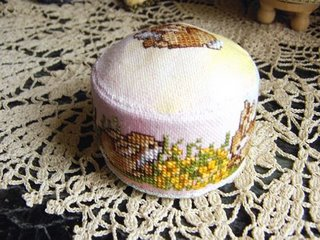 Cross Stitch Pincushion by Olga