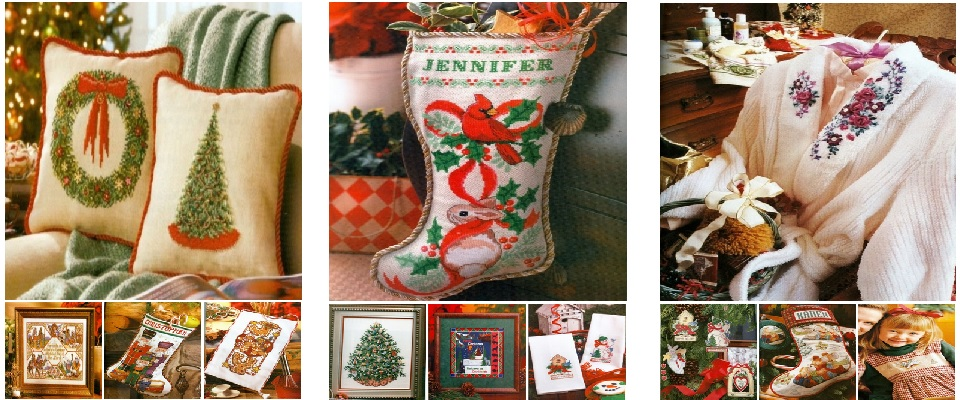 Cross Stitch Christmas Books by BH&G