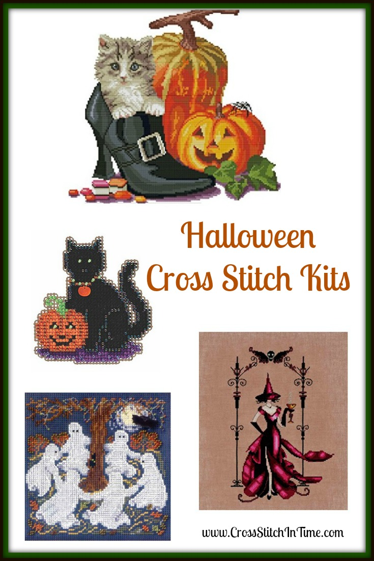 Halloween Cross Stitch Picture Kits make a great treat and beautiful Halloween decor