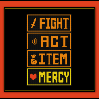 Undertale Cross Stitch Pattern Fight and Mercy Battle Screen