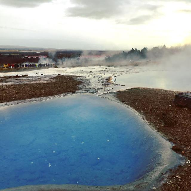 The bluest of blue bottomless geothermal pool iceland geothermal hotspringhellip