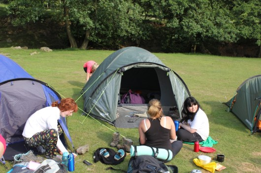 Cross the UK: HTCS Duke of Edinburgh Silver Final Expedition Tents Up