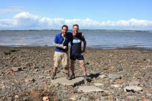 Cross the UK: Hadrian's Wall Walk Bowness on Solway End with Mick Fenwick and Richard Jefferson