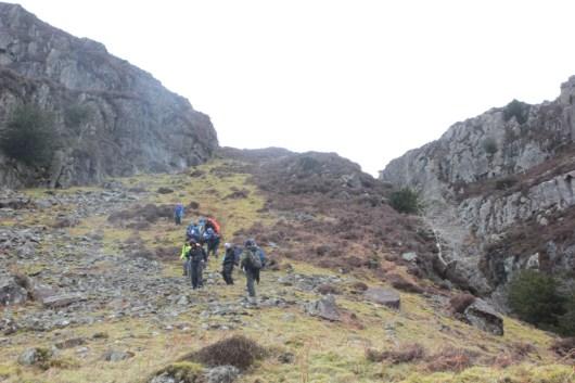 Tackling a steep descent