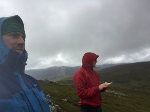 Waterproofs out for a 15 minute shower