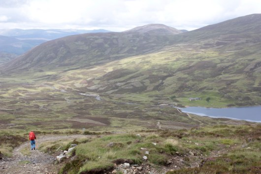 The descent to Loch Callater