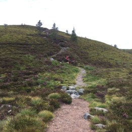 Heading up to the Creag a' Chalamain