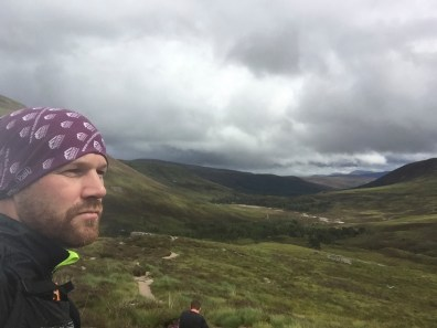 Reflecting on the run as we stop by the River Dee in the Lairig Ghru