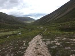 Rocky path through the Lairigh an Laoigh