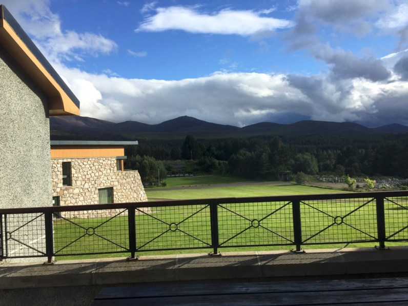 The view from the lodge
