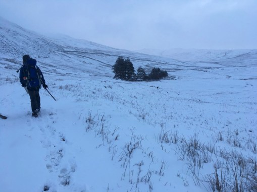 The walk down to Mosedale Cottage Bothy