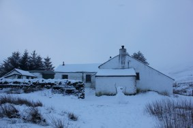Mosedale Cottage Bothy in the snow