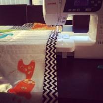 Machine Binding with Zig Zag Fabric