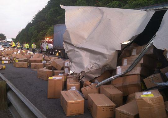 Wreck On I 40 Near Crossville Tn