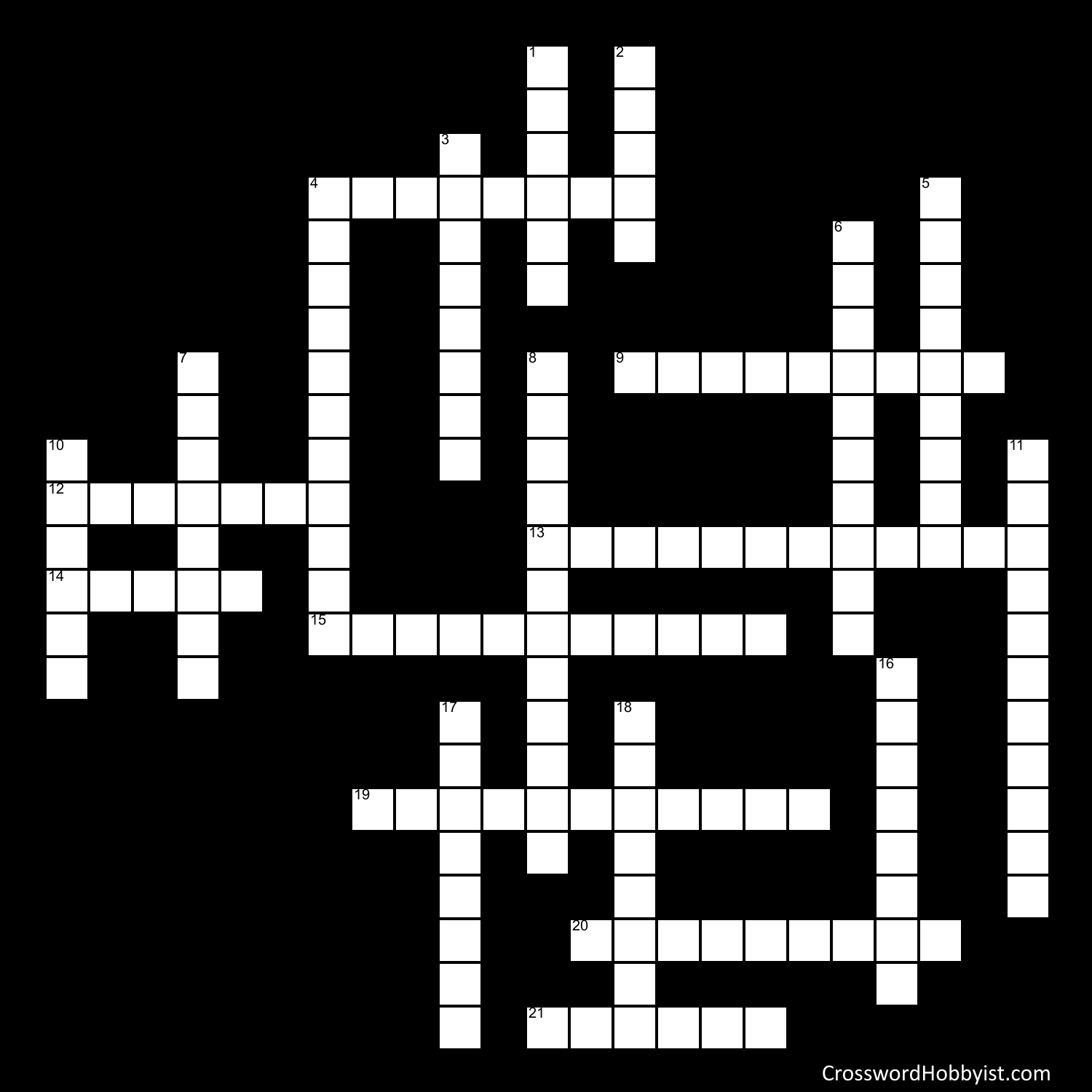 Cell Parts Crossword