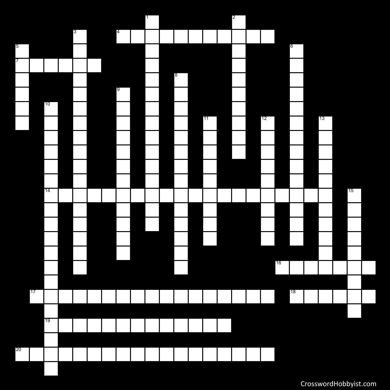 World History Crossword Puzzle