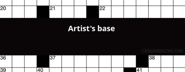 Artist's base crossword clue