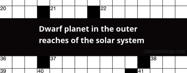 Dwarf planet in the outer reaches of the solar system ...