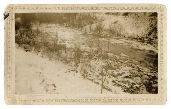 Croton River below the dam, February, 1934.