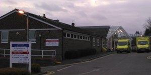 Crowborough Hospital with Two Ambulances Outside
