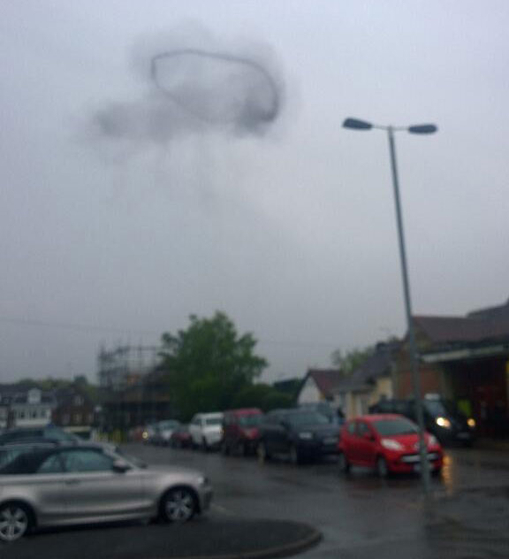 Photo of smoke seen over the railway station (Photo courtesy of Chris Grose)