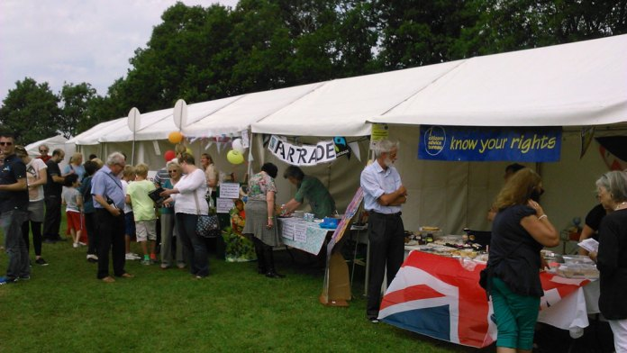 Some of the Stalls at Goldsmiths Recreation Ground