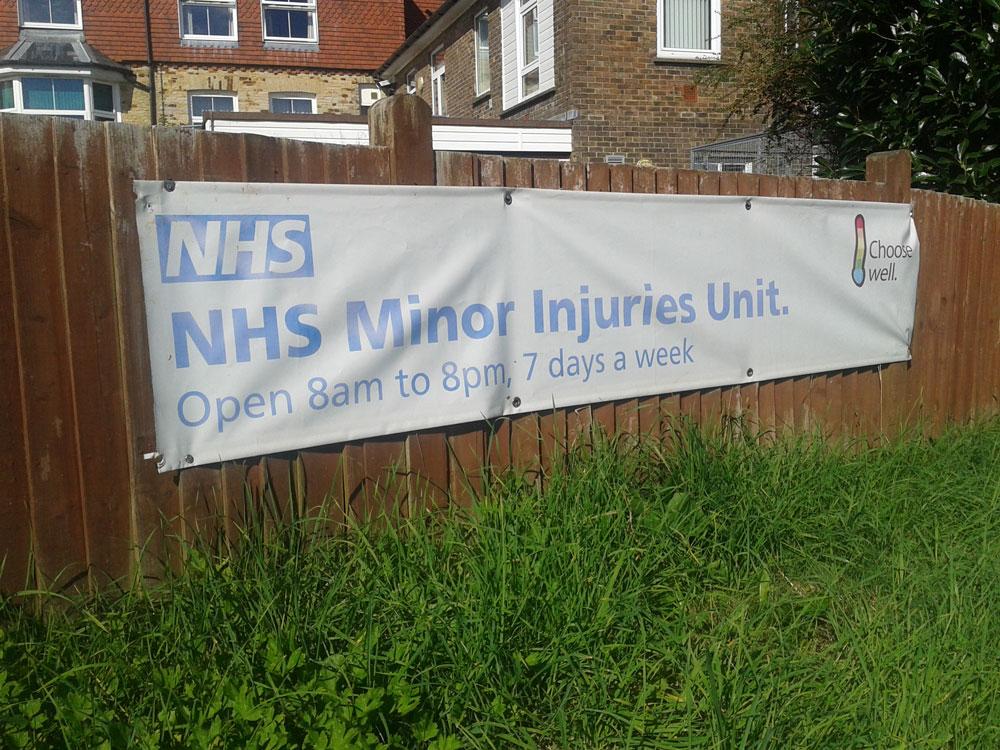 Crowborough Minor Injuries Unit banner