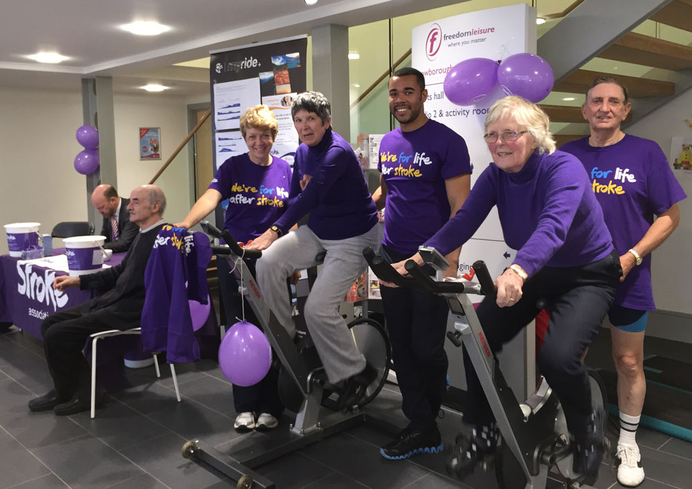 Members of the Stroke Rehabilitation Group in action at Crowborough Leisure Centre