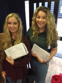 Imogen Coda top achiever for the whole of year 11 and Charlotte Jones achieved excellent results too, taking 4th place.