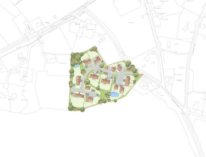 Treblers Nursery plan Millbrook Jarvis Brook Crowborough  Tubwell Lane