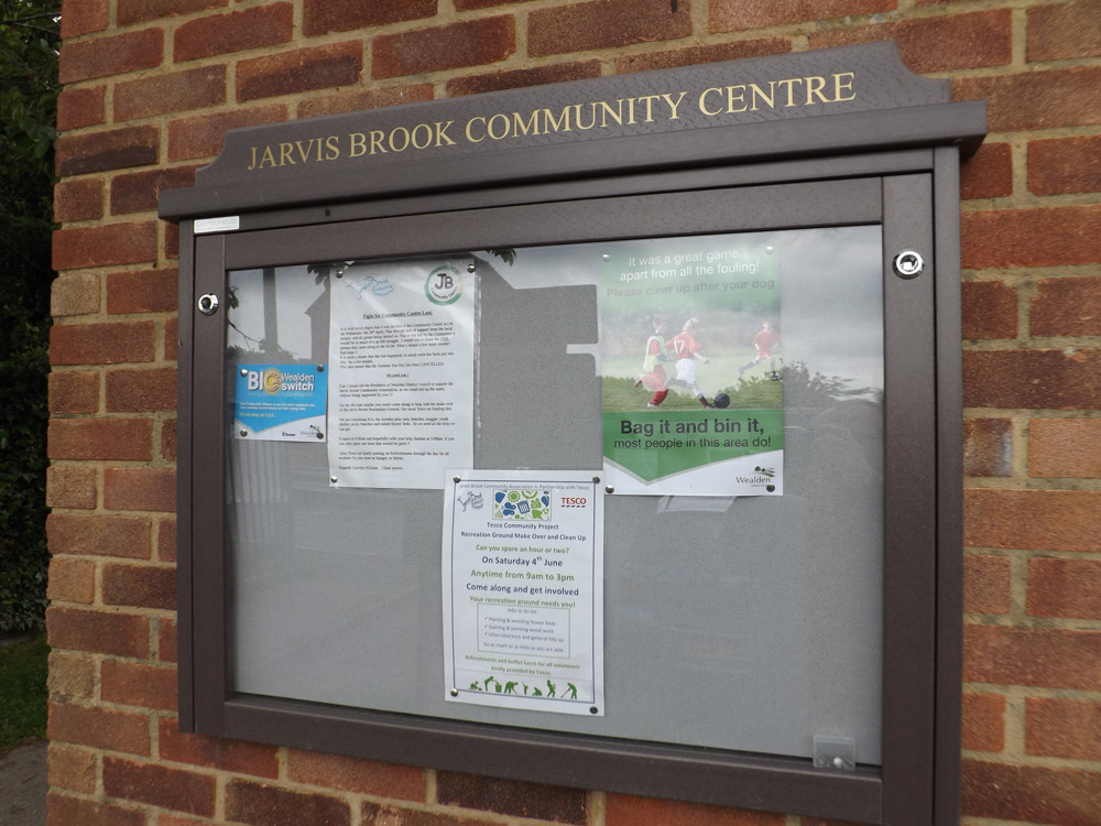 Noticeboard-Jarvis-Brook-Re