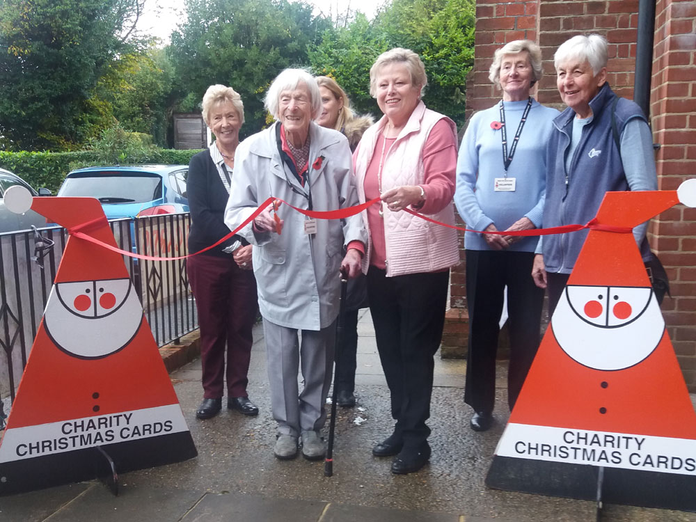 """Hope Hill, 98-year old volunteer with """"Cards for Good Causes"""" Crowborough"""