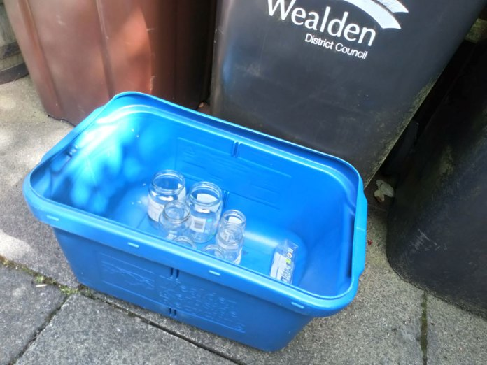 From 29th June glass can be commingled with other recyclables in Wealden.