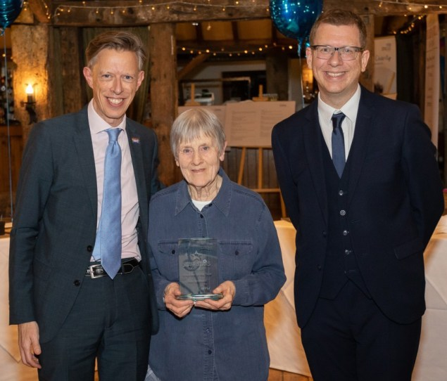 Kay Southard was crowned Volunteer of the Year at the Maidstone and Tunbridge Wells NHS Trust's Staff Stars Awards 2019.