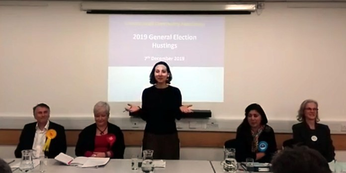 Election Hustings Wealden MP at Crowborough Community Centre on Saturday 7th December 2019.