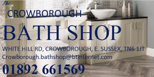 Crowborough Bath Shop on Whitehill Road. Call 661569.