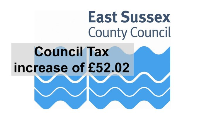 East Sussex County Council Council Tax increase of £52.02 in 2021/22.