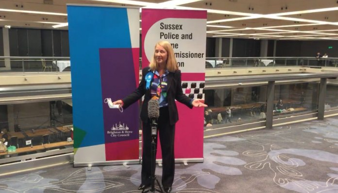 Katy Bourne reelected Sussex Police and Crime Commissioner May 2021