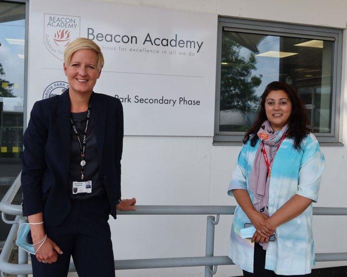 Anna Robinson Headteacher Beacon Academy Nus Ghani Wealden MP