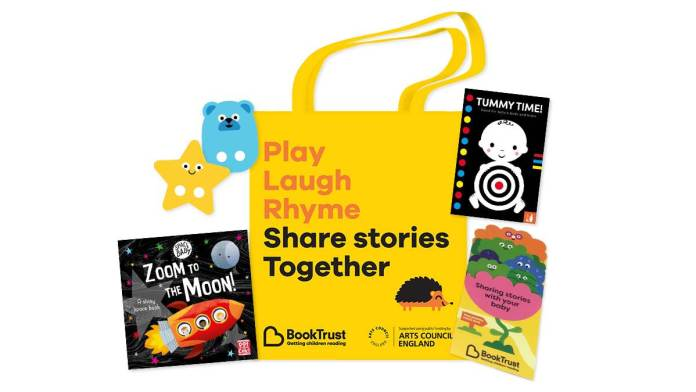 """BookTrust - BookStart pack of free baby books """"Share stories Together"""""""