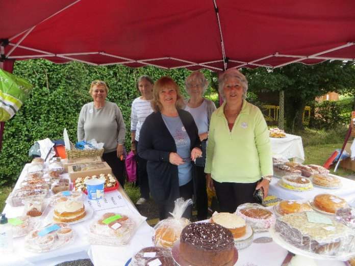 cake staff WI Hospital pop-up fete 2021