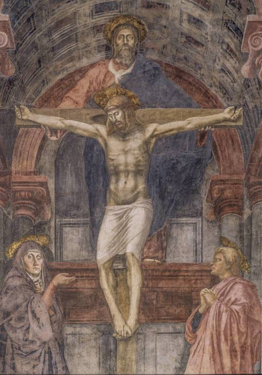 Opera Santa Maria Novella – Masaccio-La-Trinitau0300-Cristo-in-croce