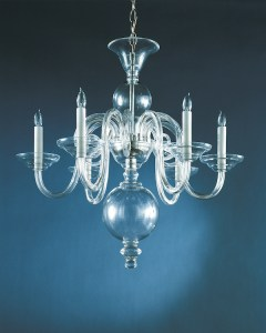 Crowder Designs Clear Chandelier Collection | 6 Arm