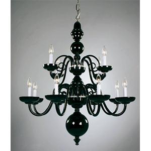 Crowder Designs Black Chandelier Collection | 12 Arm