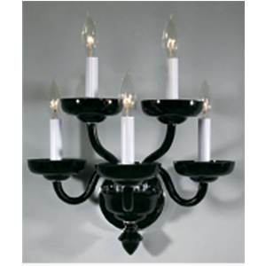 Crowder Designs Black Sconce Collection | 5 Arm