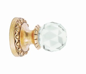 Crowder Designs Crystal Finial Collection   Crystal Small Faceted