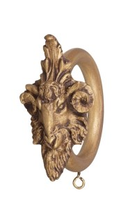 Crowder Designs Drapery Ring Collection | Ram Head Decor Ring