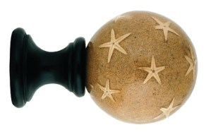 Crowder Designs Natural Elements Finial Collection | Starfish On Sand