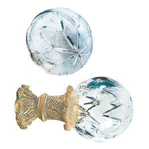 Crowder Designs Crystal Finial Collection   Extra Large Hollow Large Star
